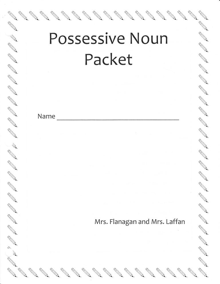 Possessive nouns-multiple-ws
