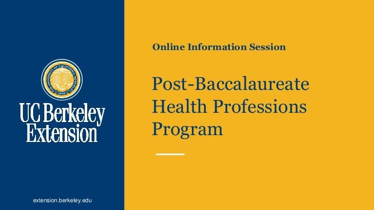 Post Baccalaureate Health Professions Program