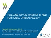 Post Habitat III and National Urban Policy at the OECD