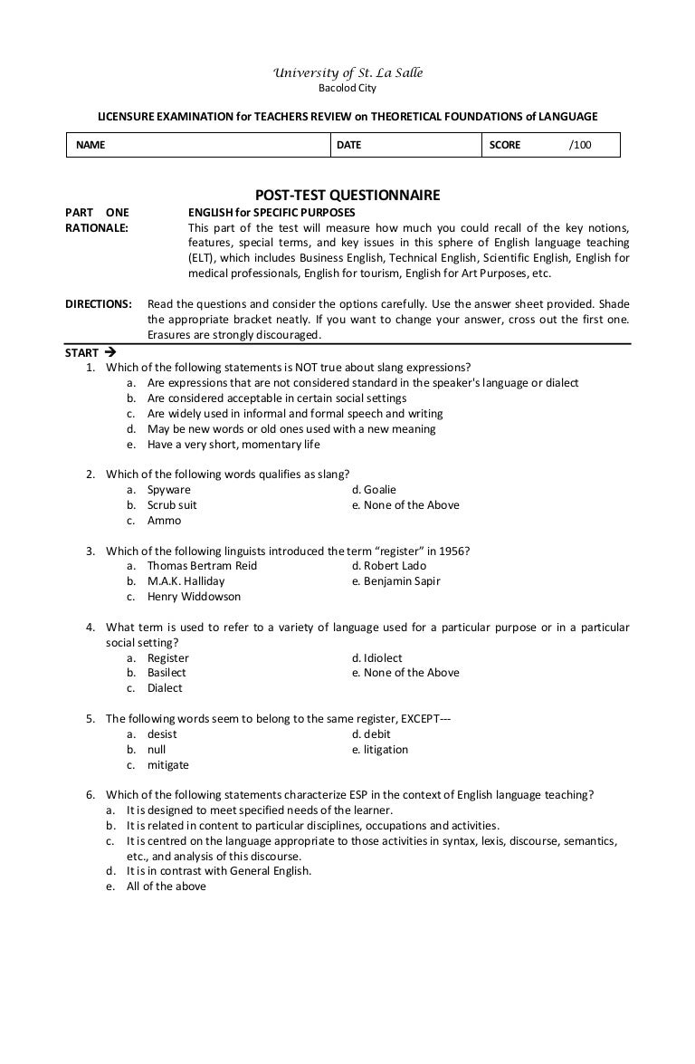 english proficiency test reviewer with answer key pdf