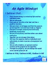 An Agile Mindset - What I believe (8,5x11 size)