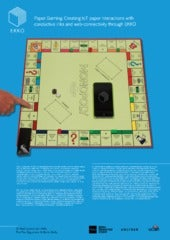 Paper Gaming: Creating IoT Paper Interactions with Conductive Ink and Web Connectivity through EKKO