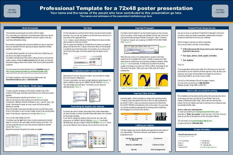 poster presentations com 72x48