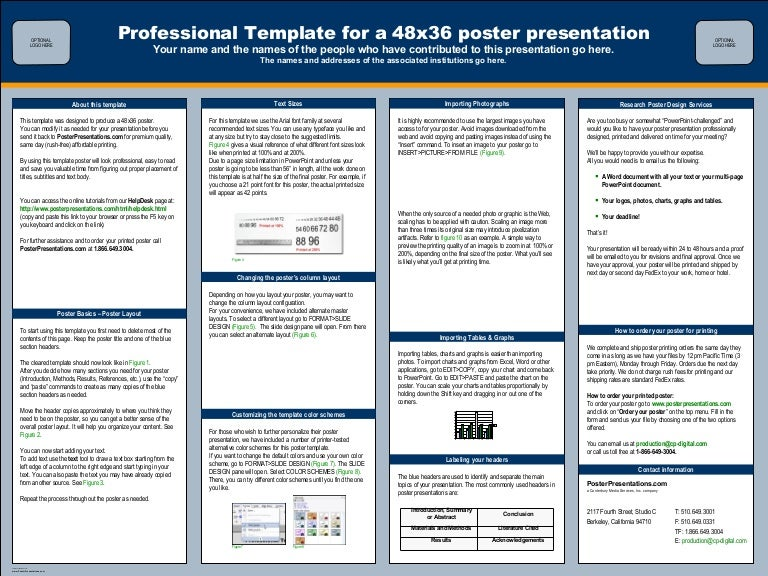 Poster Session Templates Eczalinf