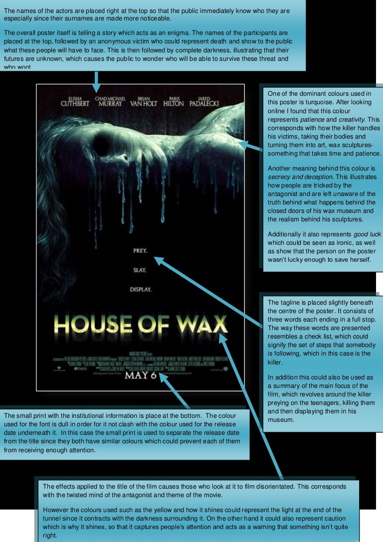 The House Of Wax Horror Film Poster