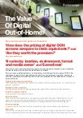 The value of digital out-of-home