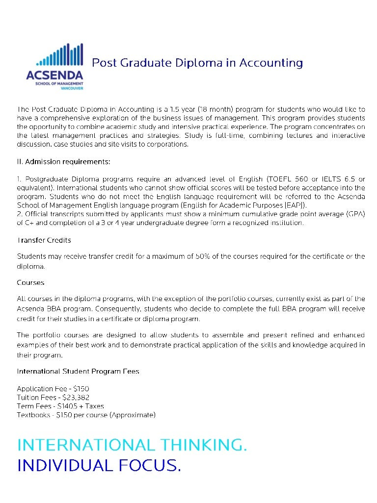 Sprott shaw college post graduate diploma in accounting info sheet 1betcityfo Image collections