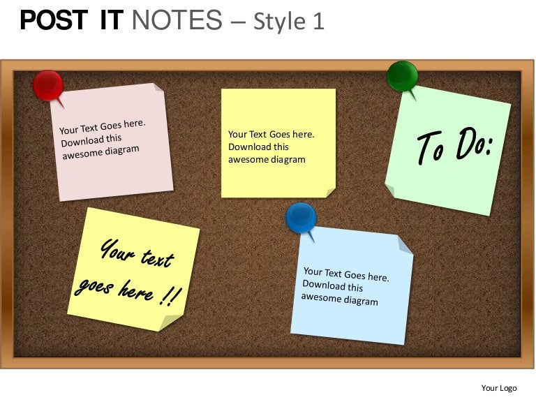 post it notes style 1 powerpoint presentation templates, Powerpoint Notes Template, Powerpoint templates