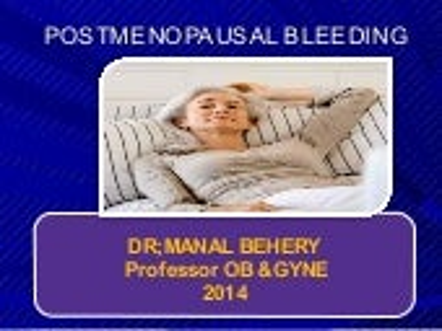 Postmenopausal bleeding for undergraduate