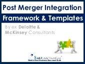 Post Merger Integration Framework   By ex-McKinsey Consultants