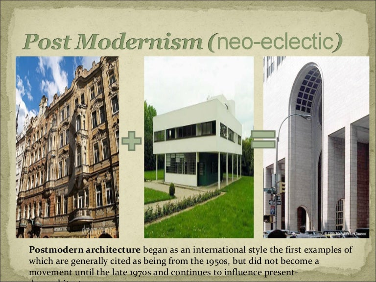 Modern Architecture Vs Traditional Architecture post-modern architecture and the architects involoved in it.