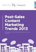 Post sale content marketing trends 2013
