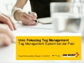 Tag Management System bei der Post