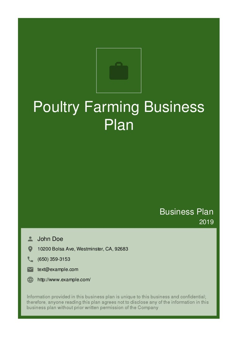 poultry production business plan sample