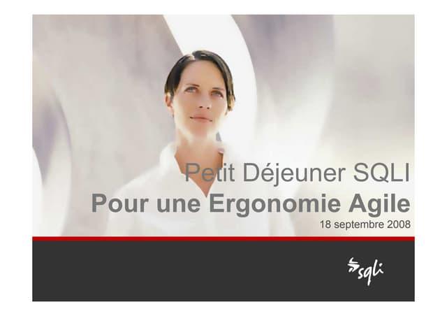 Pour Une Ergonomie Agile Pdj Sqli