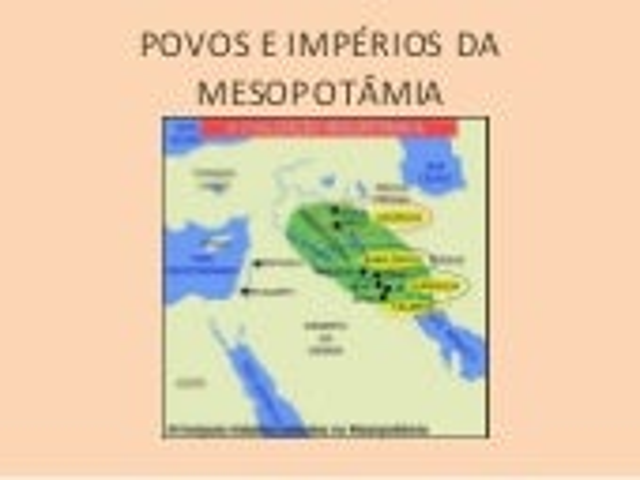 Povos e impérios da Mesopotâmia