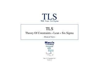 TLS - TOC Lean Six Sigma - English 40 slides 2013