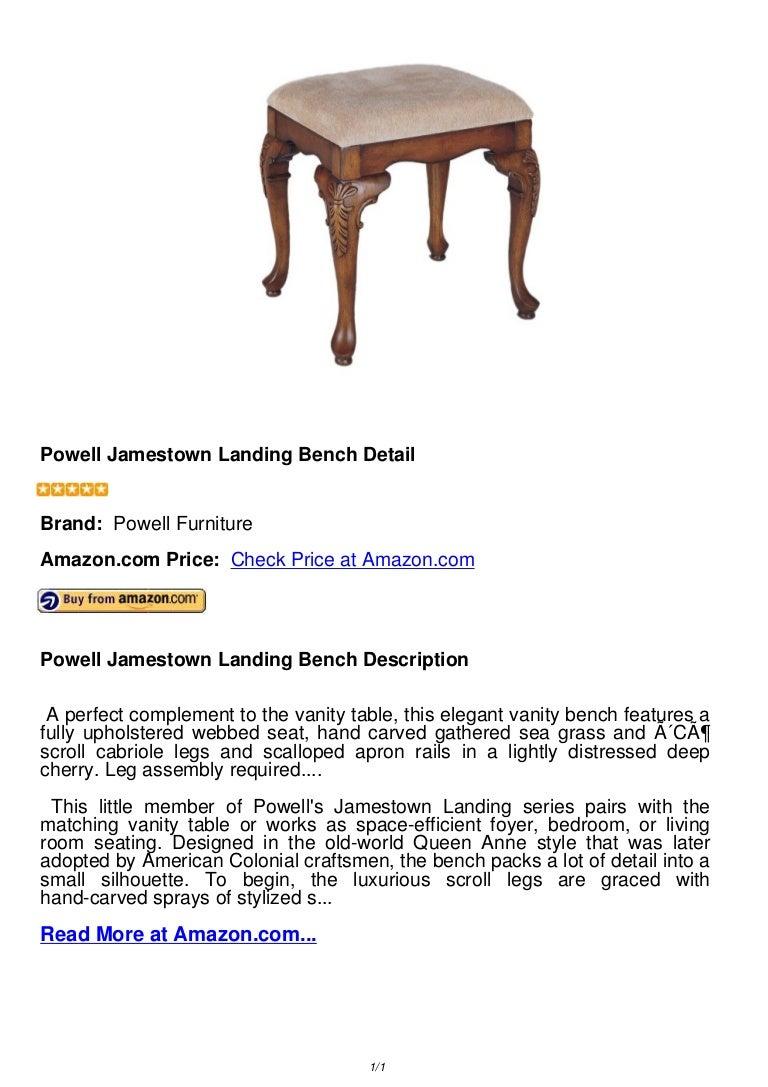 Remarkable Powell Jamestown Landing Bench Dailytribune Chair Design For Home Dailytribuneorg
