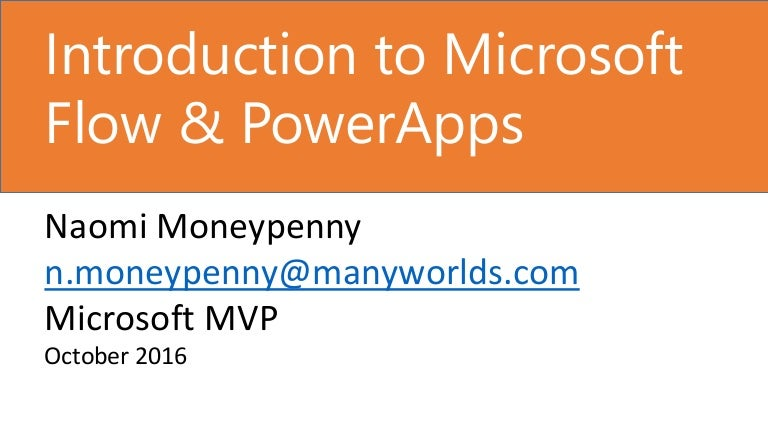 Introduction To Microsoft Flow Powerapps