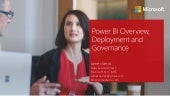 Power BI Overview, Deployment and Governance