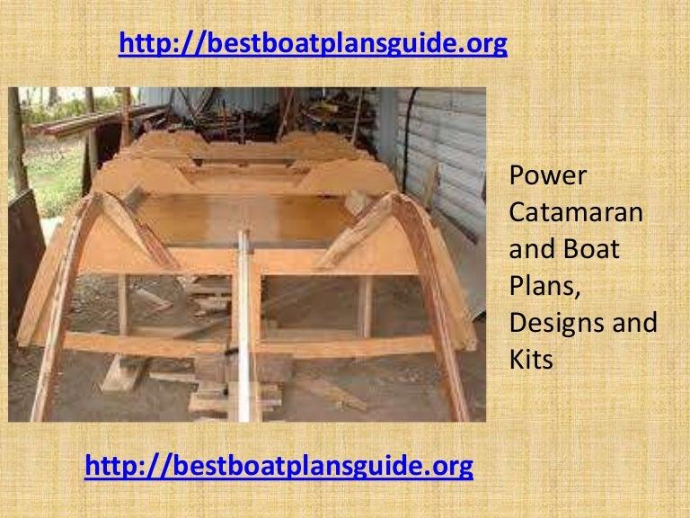 Power catamaran and boat plans, designs and kits