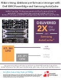 SQL Server 2016 database performance on the Dell EMC PowerEdge FC630 QLogic 16G Fibre Channel with StorFusion Technology, Dell EMC Storage SC9000 all-flash array, and Samsung AutoCache - Infographic