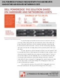 Dell PowerEdge FX2 rack enclosure with FN IO Aggregator: Savings through reduced networking costs