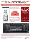Improving performance with in-memory SQL Server 2014 database features on the Dell PowerEdge R930 - Infographic