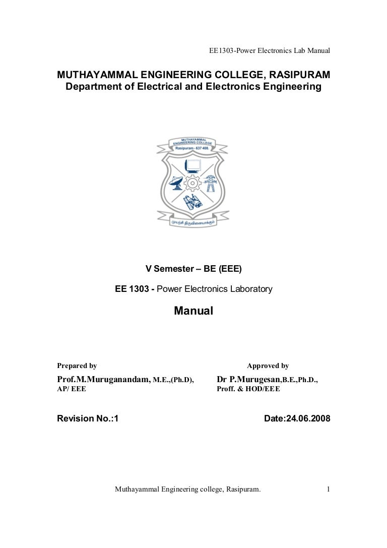 Power Electronics Lab Manual Be Eee Pics Photos Scr Control Circuit