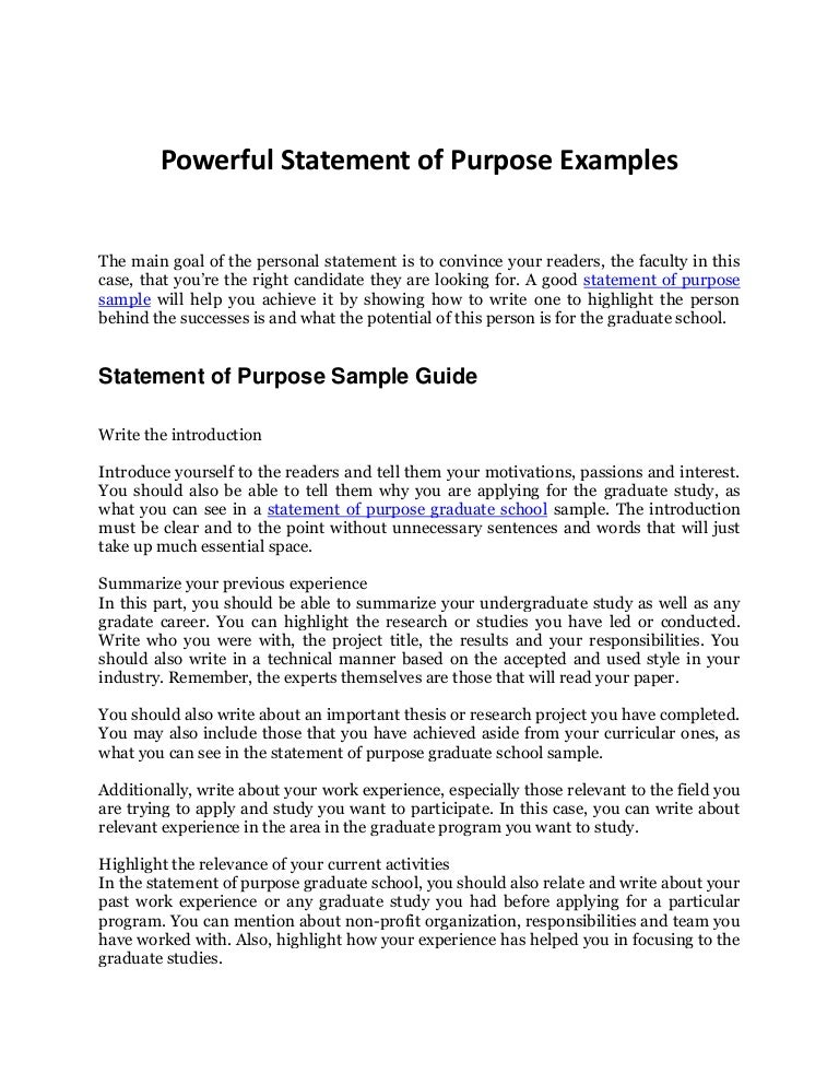 Statement Of Purpose Sample Your Complete Guide To An Awesome Sop