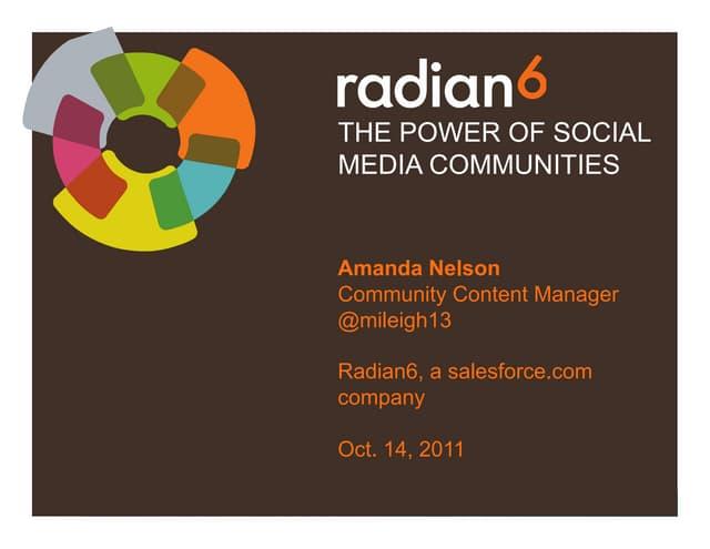 Power of Social Media Communities