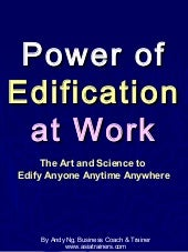 Power of Edification at Work