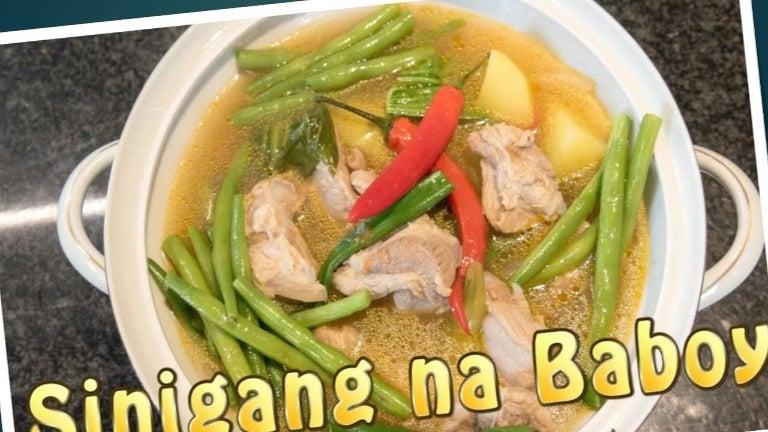 Sinigang Na Baboy Ni Clang With Magic Sarap