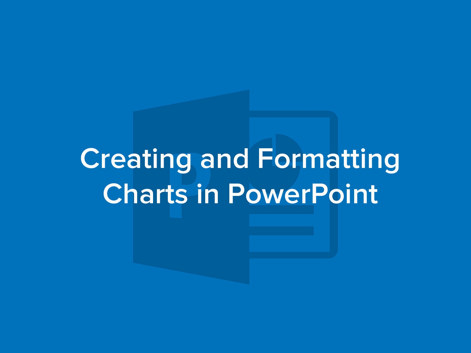 How to Create and Format Charts in PowerPoint