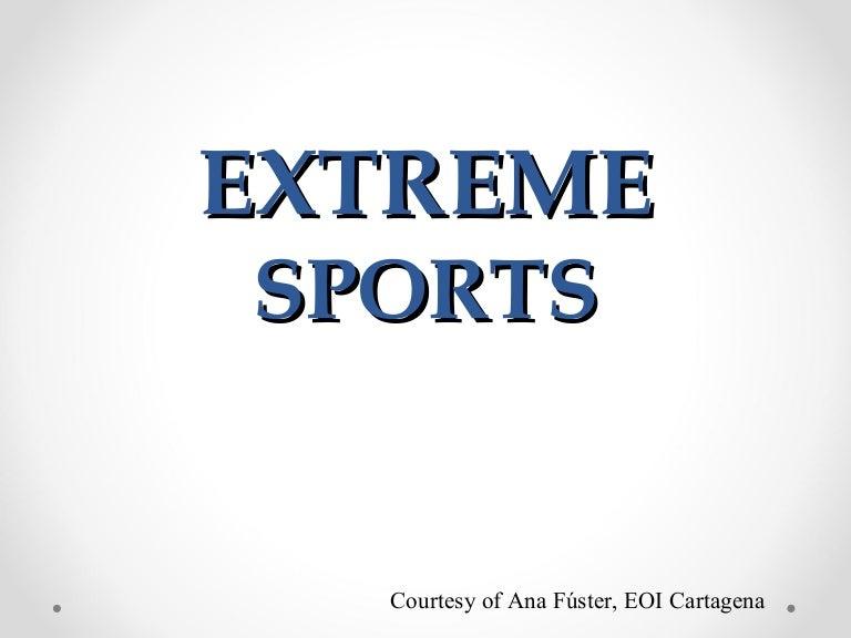 NI2 vocabulary - Extreme sports