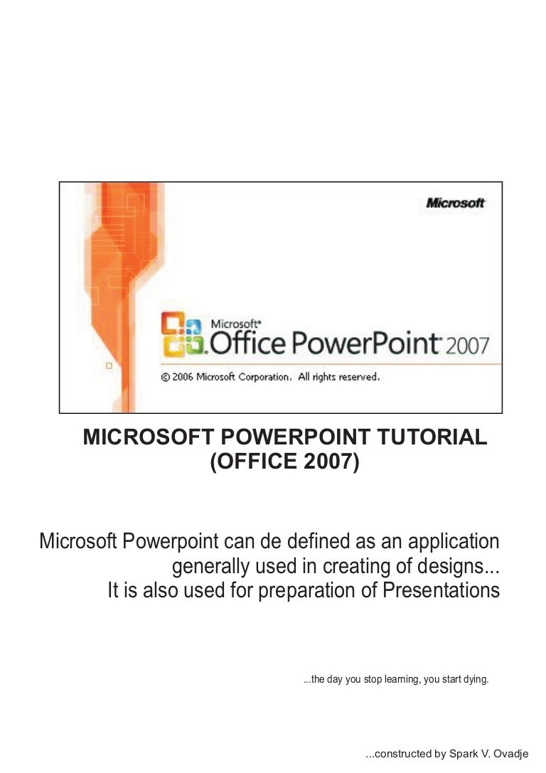 Powerpoint 2007 tutoria by humble spark microsoft e learningl baditri Image collections