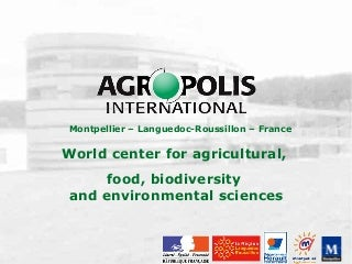 Powerpoint agropolis international anglai sder