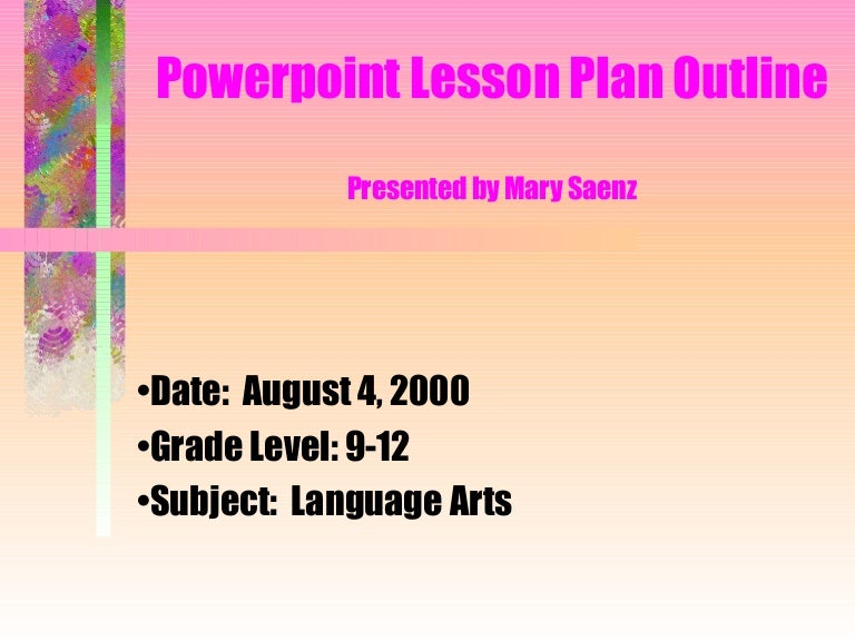 powerpoint assignment example