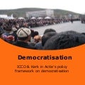ICCO and Kenk in Actie policy framework on democratization