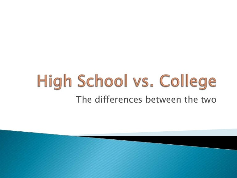 high school and college similarities