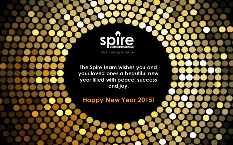 Spire wishes everyone a very happy new year 2015 m4hsunfo