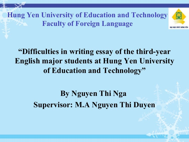 powerpoint of graduation thesis of english major
