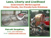 Government's Warfare against Cycle Rickshaws