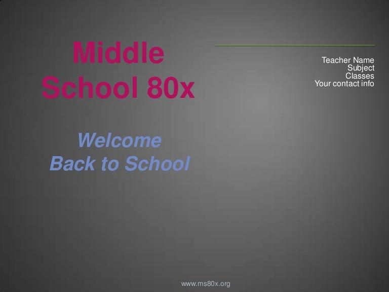 Back 2 school powerpoint template for teachers toneelgroepblik Image collections