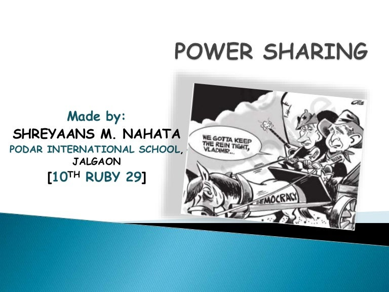 Power Sharing Class 10 Complete With Case Study