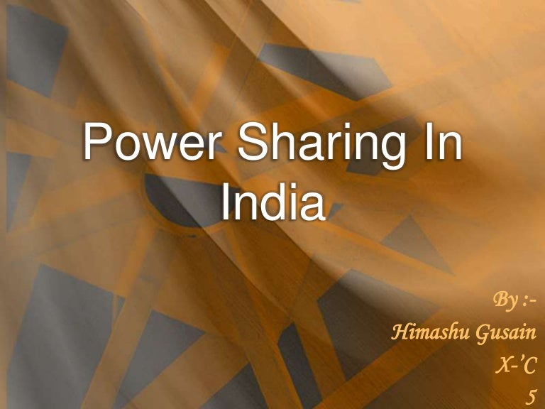 power sharing in