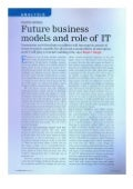 Future Business Models and role of IT- Featured in Power Today June 2012