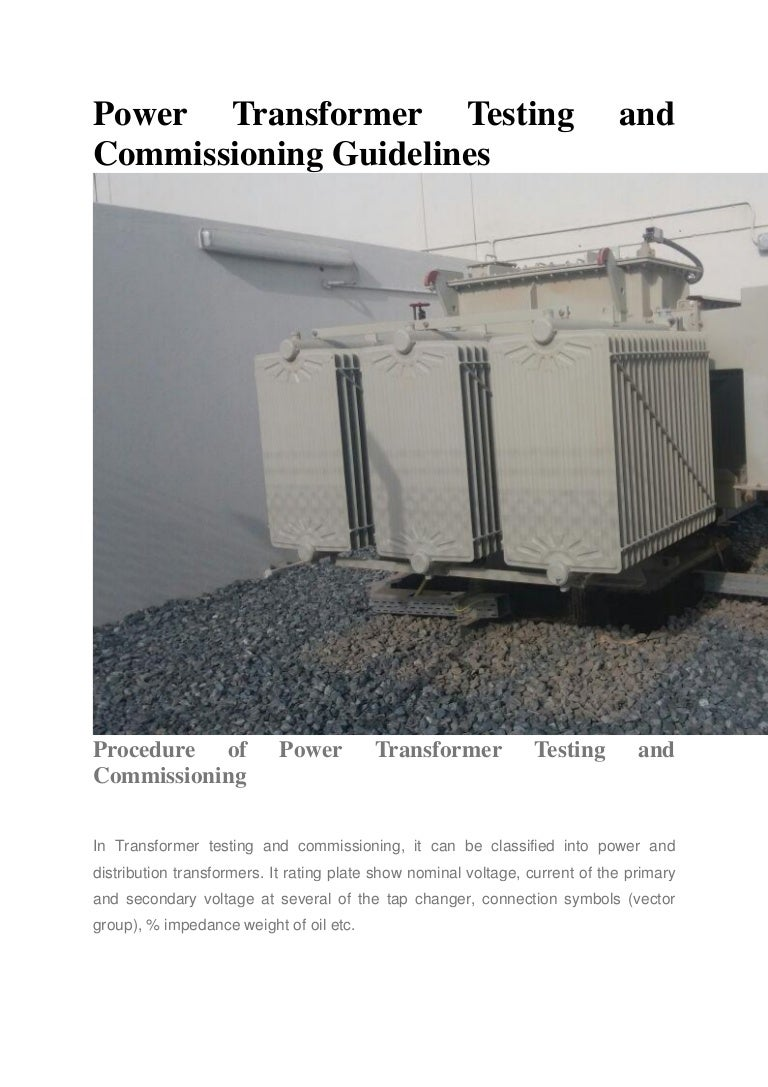 Power Transformer Testing And Commissioning Guidelines R Ammeter Selector Switch Connection To Current Transformers