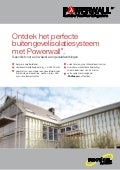 Recticel Insulation - Powerwall productflyer