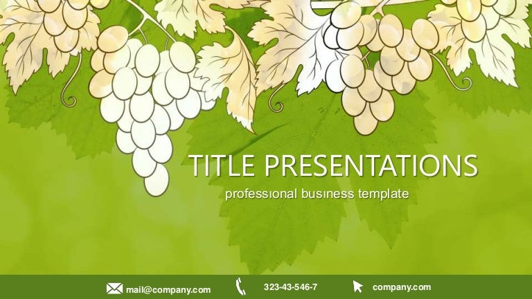 Grapes Biology Free Powerpoint Templates